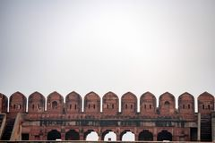 Battlement of Fort of Agra Royalty Free Stock Image