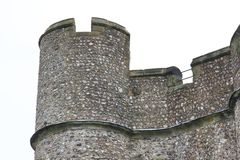 Battlement of Lewes Castle Royalty Free Stock Image