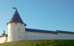 The Battlement and tower(turret) of the old-time l Stock Photo