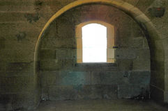 Battlement window Royalty Free Stock Photography