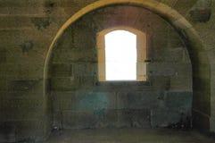 battlementfönster Royaltyfri Fotografi