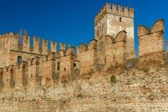 Battlements in Castelvecchio of Verona Royalty Free Stock Image