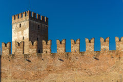 Battlements in Castelvecchio of Verona Royalty Free Stock Photography