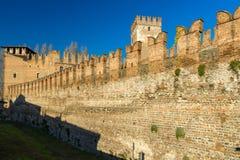 Battlements in Castelvecchio of Verona Stock Photos