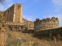 Battlements , Castle of Montalban , San Martin de Montalban , To Royalty Free Stock Images