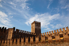 Battlements de Castel Vecchio Imagem de Stock Royalty Free