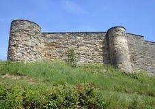 Battlements do castelo de Scarborough Fotos de Stock Royalty Free