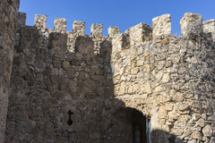 Battlements, fortress and castle of Consuegra in Toledo, Spain. Medieval fortification Stock Photo