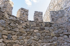 Battlements, fortress and castle of Consuegra in Toledo, Spain. Royalty Free Stock Images