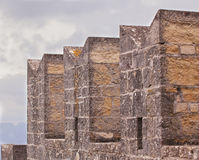 Battlements of the fortress. Royalty Free Stock Images