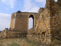 Battlements, kasztel Montalban, San Martin De Montalban, Zdjęcia Stock