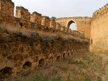 Battlements, kasztel Montalban, San Martin De Montalban, Toled Obraz Royalty Free