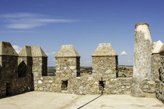 Battlements in serpa portugal alentejo Royalty Free Stock Photos