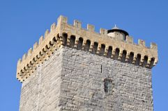 Battlements of a square tower Royalty Free Stock Photos