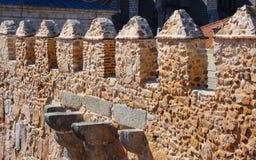 Walls of the city of Avila in Spain Stock Image