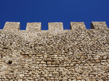 Battlements on the walls Stock Photography