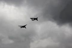 Battleplanes antes del 9 de mayo Victory Day Parade Fotografía de archivo libre de regalías