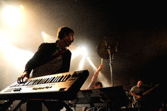 Battles band performs at Apolo Royalty Free Stock Images