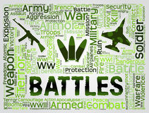 Battles Words Represents Military Action And Affray Royalty Free Stock Photo