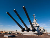 Battleship. Of US Navy at the museum in Mobile, AL royalty free stock photography
