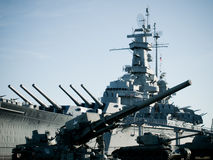 Battleship. Of US Navy at the museum in Mobile, AL stock images