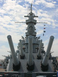 Battleship. View of the battleship USS Alabama royalty free stock image