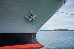 Battleship anchor Stock Photo