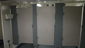 Battleship bathroom toilets stock footage