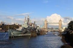 Battleship Bristol Royalty Free Stock Photos