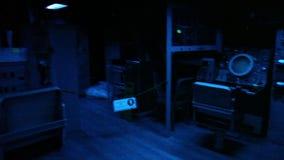 Battleship dark room map stock video footage