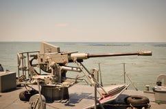 Battleship at harbor in thailand. Stock Photography