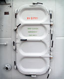 Battleship hatch door Royalty Free Stock Image