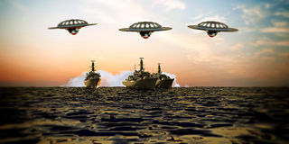 Battleship intergalactic Royalty Free Stock Photography