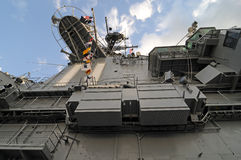Battleship Intrepid. The Conning Tower royalty free stock photography