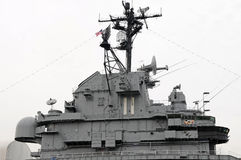 Battleship Intrepid Conning Tower. Battleship Intrepid the Conning Tower stock images