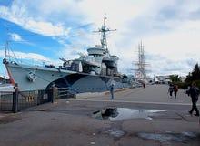 Battleship `Lightning`. Royalty Free Stock Photography