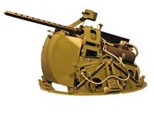 Battleship Machine gun. Isolated green stock images
