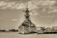 Battleship Missouri Stock Image