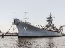 Battleship New Jersey. At Camden, NJ stock image