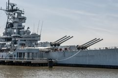 Battleship New Jersey. At Camden, NJ royalty free stock photo