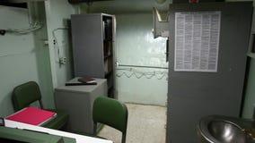 Battleship officer office stock video footage