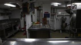 Battleship preparation room stock footage