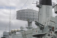 Battleship radar Royalty Free Stock Photography