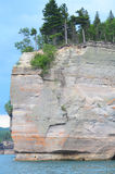 Battleship Rock of Pictured Rocks Royalty Free Stock Photo