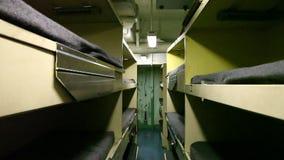Battleship sailors dormitory stock footage