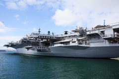 Battleship in San Diego Royalty Free Stock Photos
