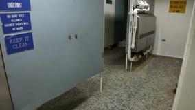 Battleship shower room stock video footage