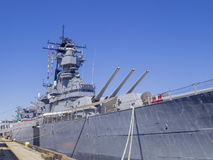 Battleship USS Iowa. Long Beach, JUL 24: Battleship USS Iowa on JUL 24, 2014 at Long Beach royalty free stock images