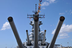 Battleship USS Missouri Stock Photography