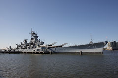 Battleship USS New Jersey at Camden, NJ Royalty Free Stock Images